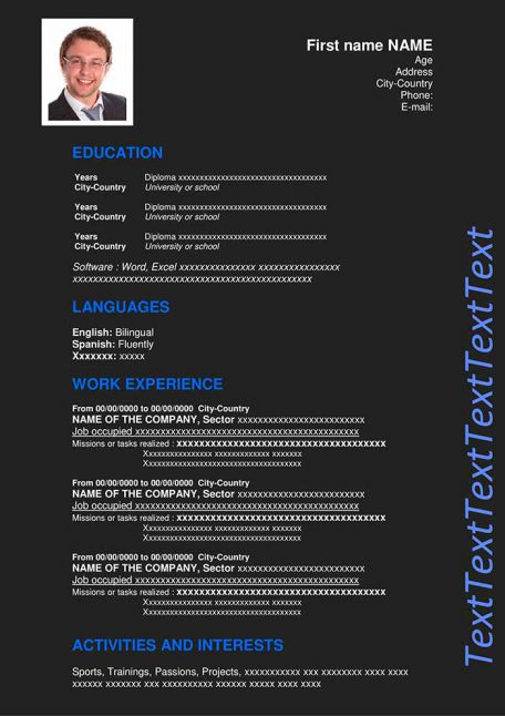 resume-template-word-dark-blue
