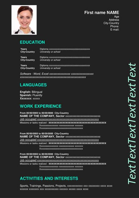 resume-template-word-dark-green