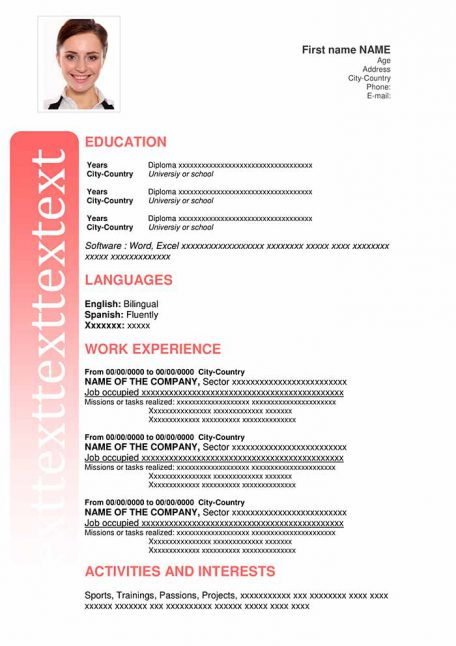 resume-template-word-essential-red