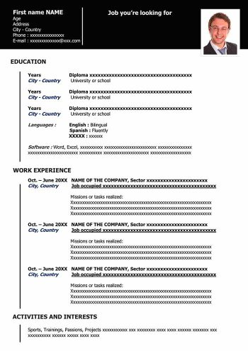 functional resume template