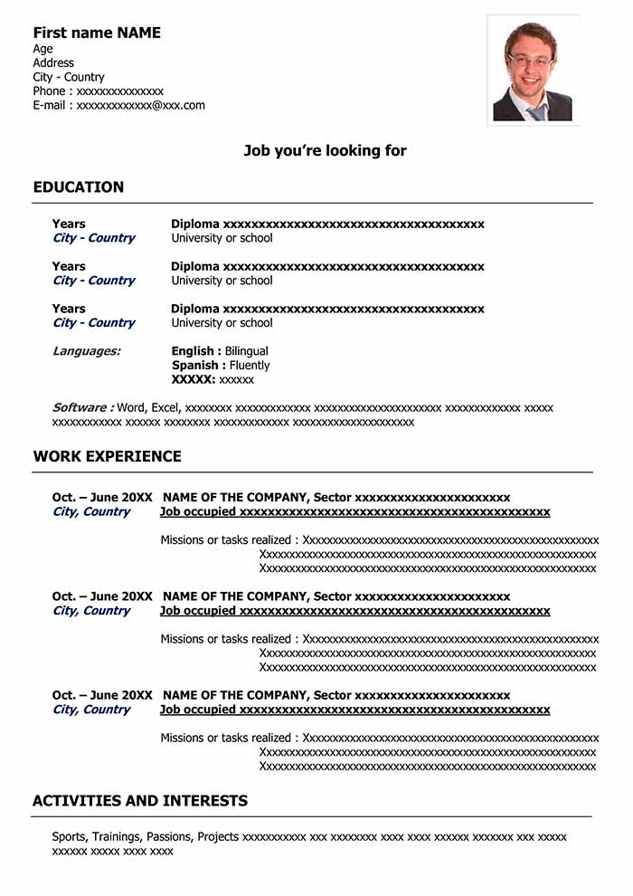 Free cv template to fill out in word format cv examples downloads cv templates yelopaper Choice Image
