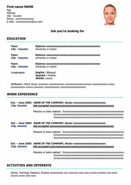 resume-template-word-classic-blue