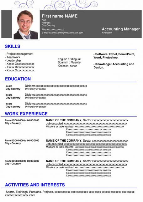 resume-template-word-hightech-blue