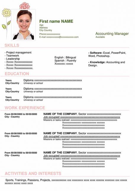 resume-template-word-creativity-pastel