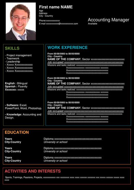 resume-template-word-structural-black