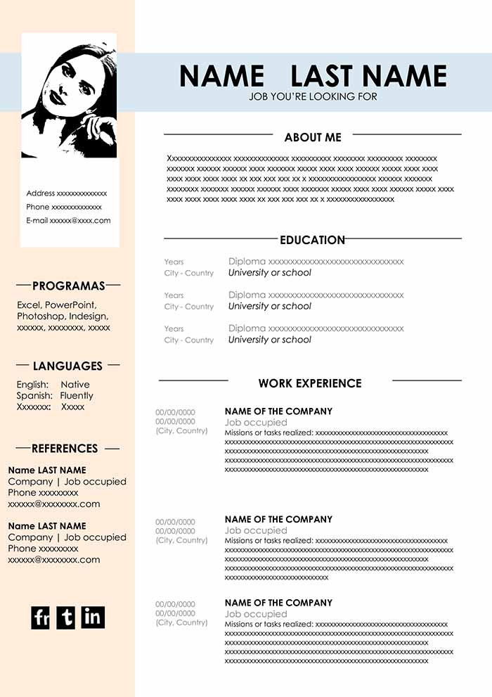 cv template design