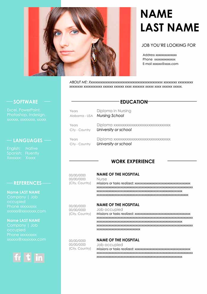 nursing resume template free download in word