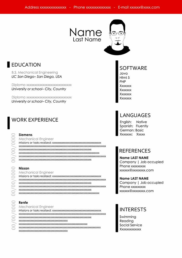 Free Engineering Resume Template Download For Word