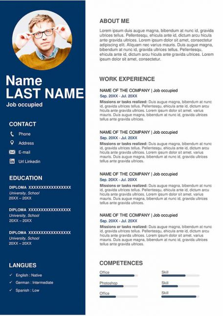 free resume examples in word format