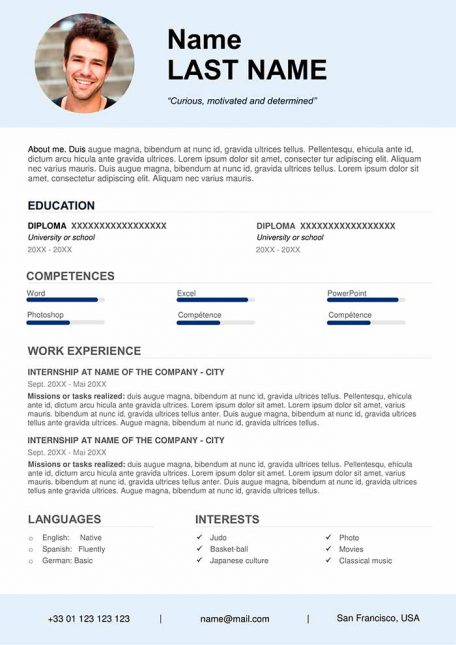 Free CV Template to Fill Out in