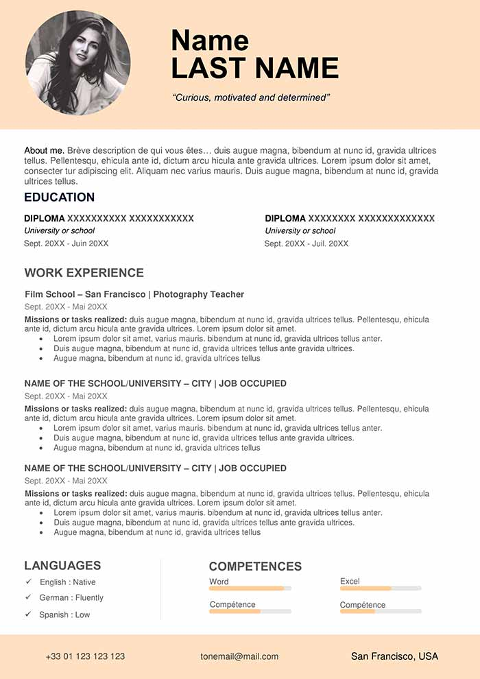 Teacher Resume Sample Free Download Cv Word Format