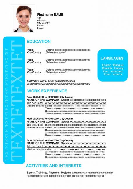 resume-template-word-positive-blue