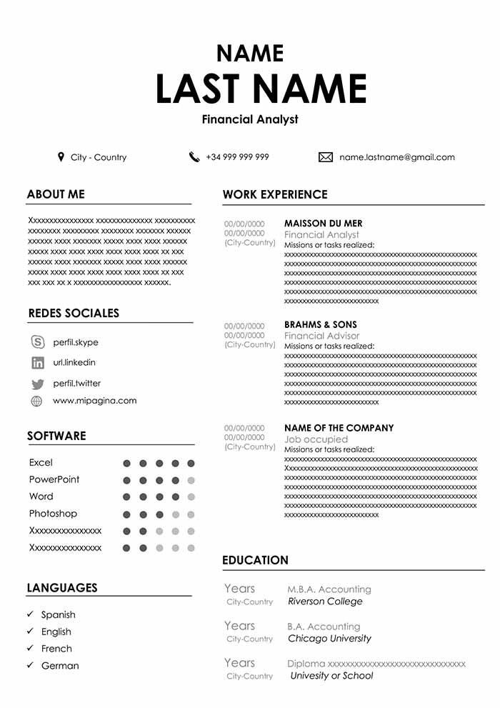 accountant resume sample for word