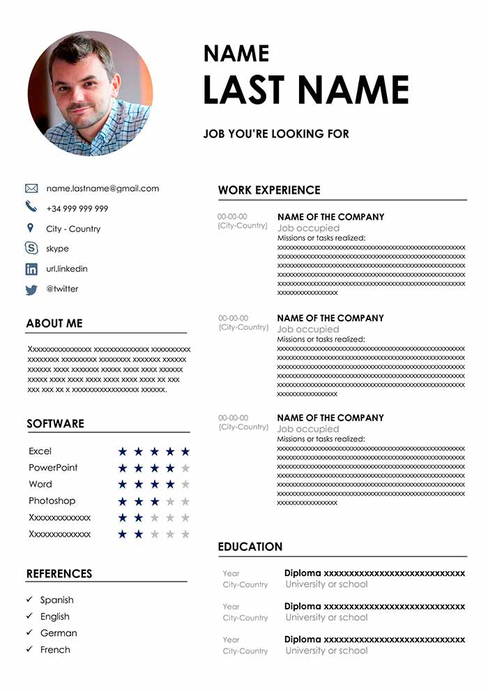 ▷ Download the Best CV Format: Free CV Template for Word