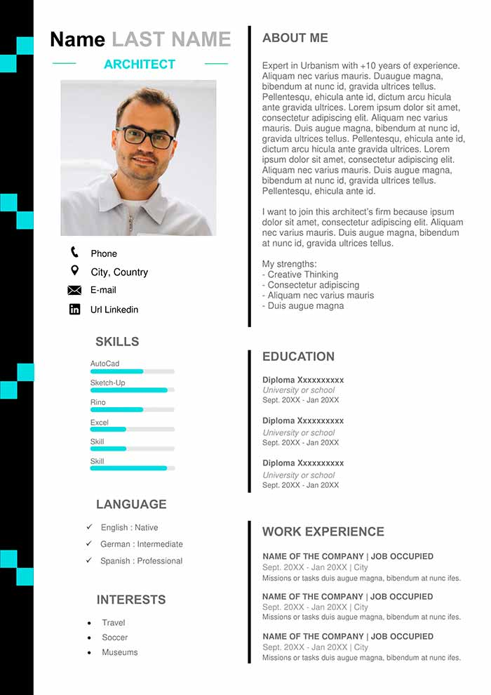 architecture-resume-example-template