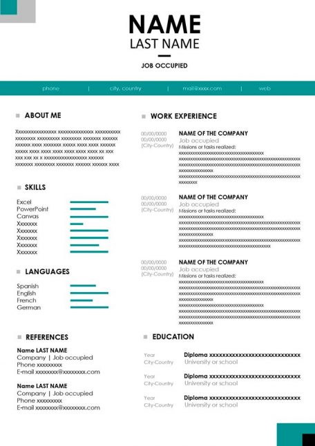 Basic Resume Template To Download For Free In Word Format