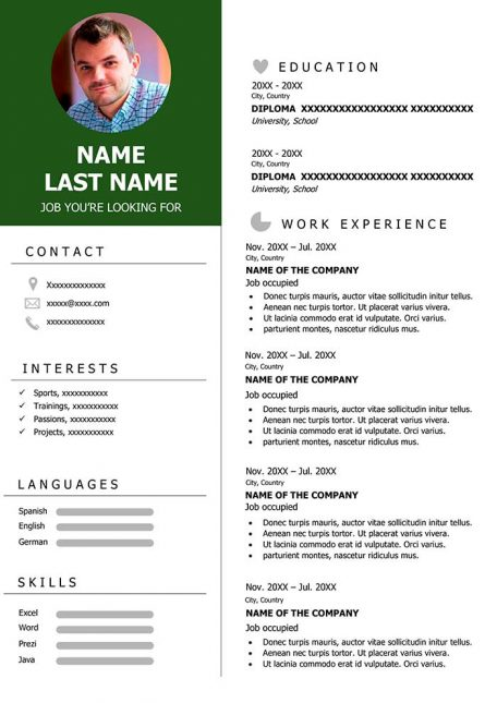 Modern Sample Resume To Download For Free In Word