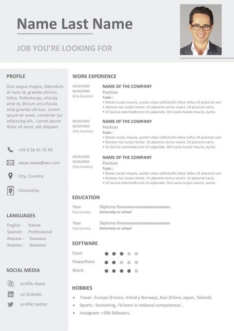 business-resume-template-free-download