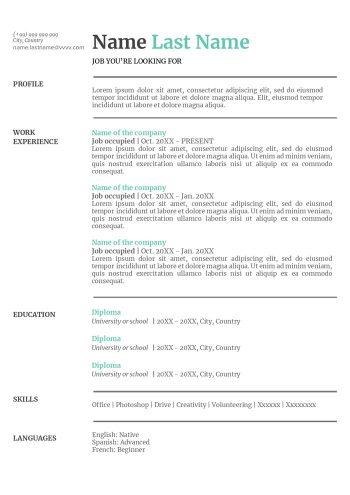 sample-resume-google-docs-free