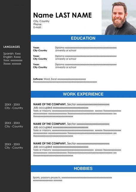 chronological resume template