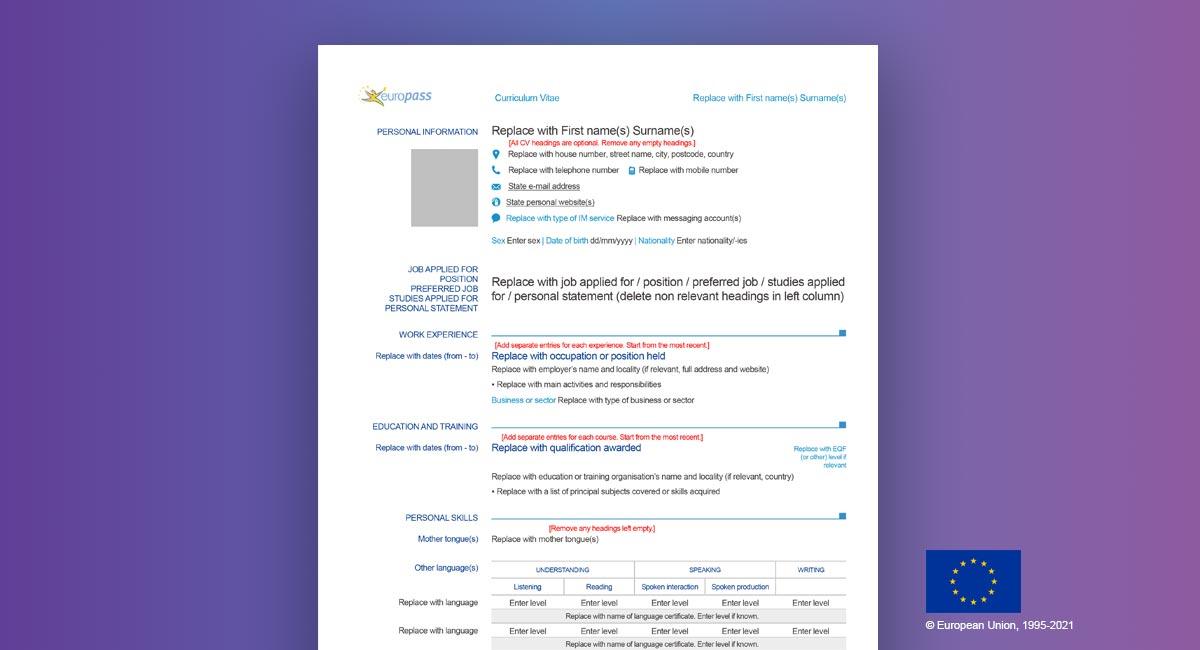 how-to-update-europass-cv